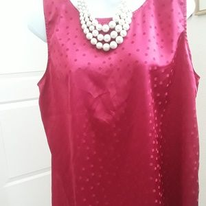Beautiful red jeweled red polka dot holiday blouse